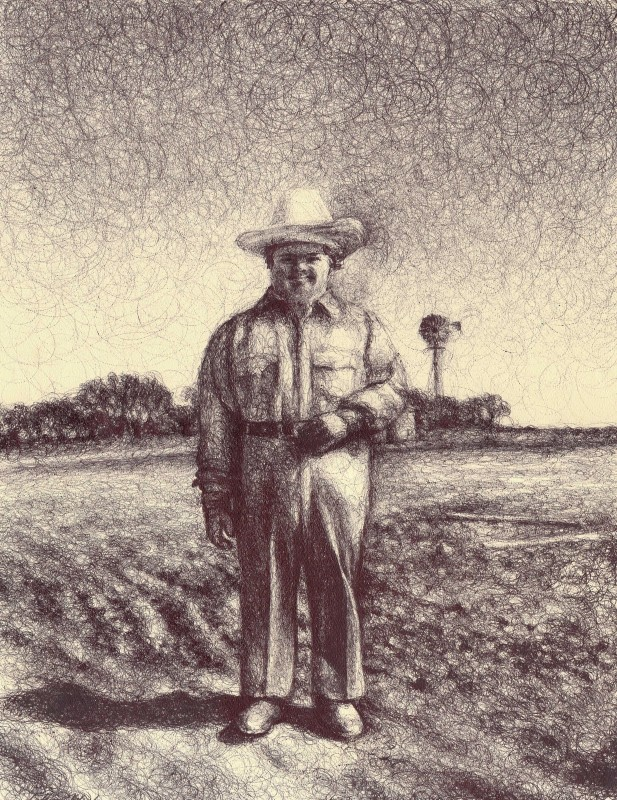 "William, 2011, Ballpoint on paper 12""x9"""
