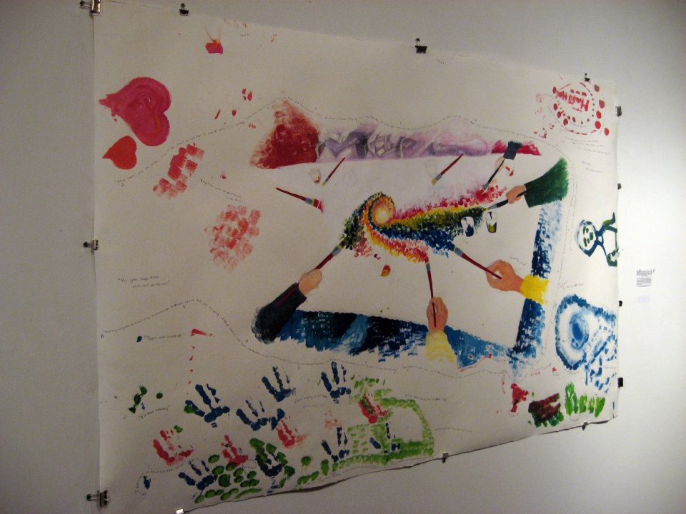 Paintings by The Alzheimer's Patients on the 5th Floor, Accompanied by Their Quotes and The Songs That Were Enjoyed, Drawn from the Artist's Memory, 2012, Ballpoint and acrylic on paper 5'x10'