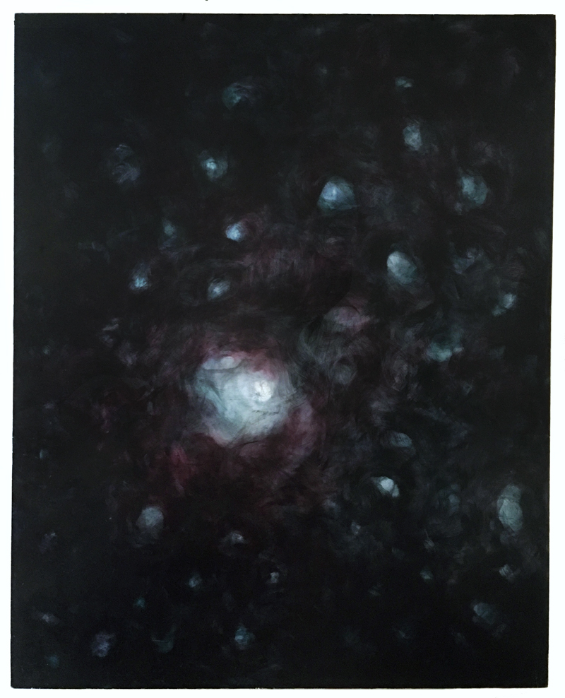 Galaxy, 2009, Oil on panel, 5ft x 6ft