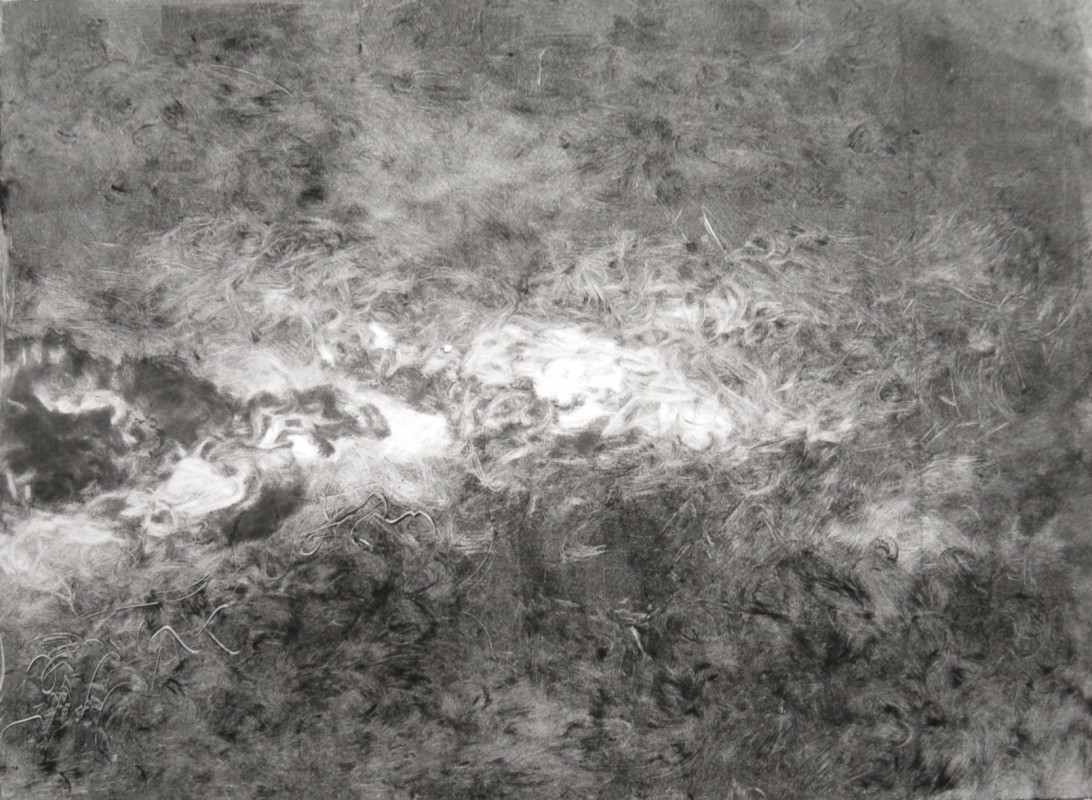 "Nebulae, 2009, Monotype on paper, 11""x14"""