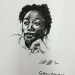 The first sharpee sketch I created of a student. Her friends were amazed!