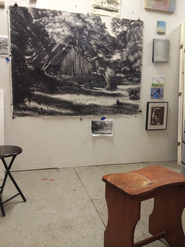 The drawing in my studio