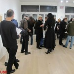Opening night for Paper Trail at Van Der Plas Gallery