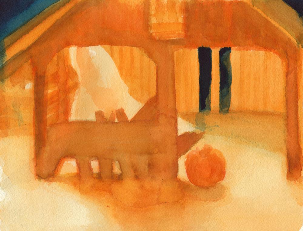 Hallow-Barn Sketch 5