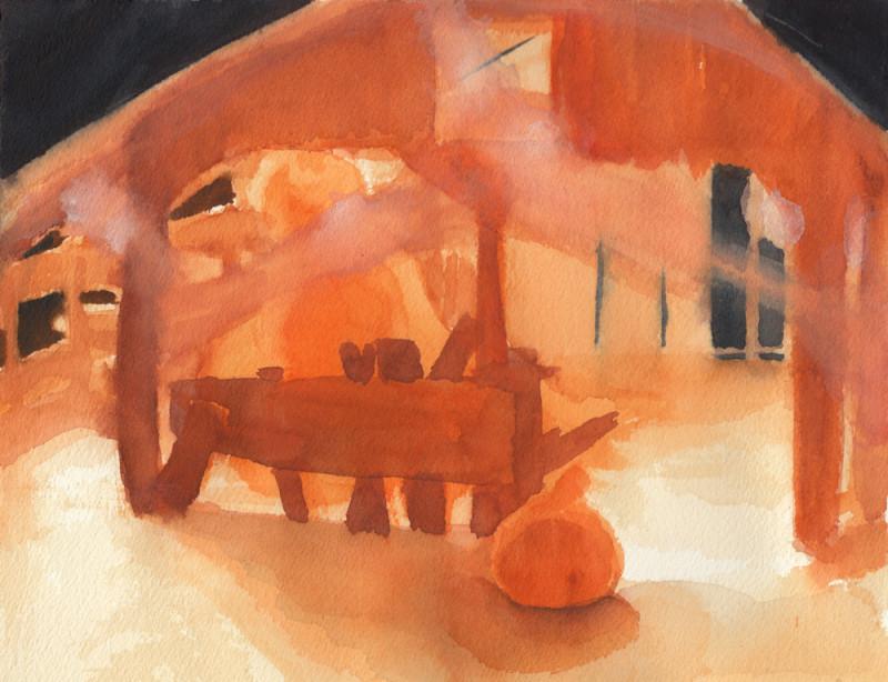 Hallow-Barn Sketch 6