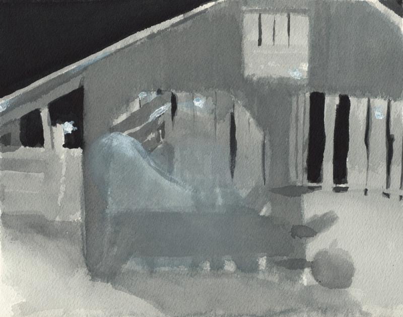 Hallow-Barn Sketch 1