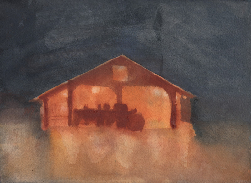 Hallow-Barn Sketch 4