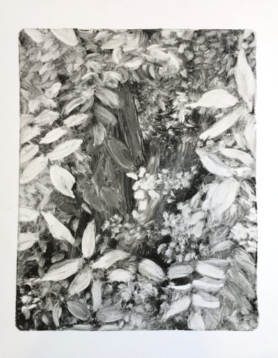"Foliage, 2018,  Monotype on paper, 20""x16"""
