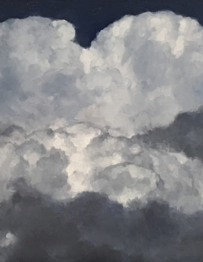 Cumulonimbus, 2018, Oil on panel, 9 x 12 inches