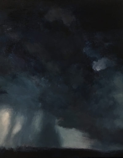 "Torrential, 2019, oil on linen, 16""x20"""