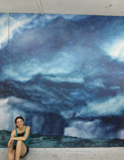 Storm Mural, 2019, latex paint on drywall, 10ft 4 in x 18ft 6in