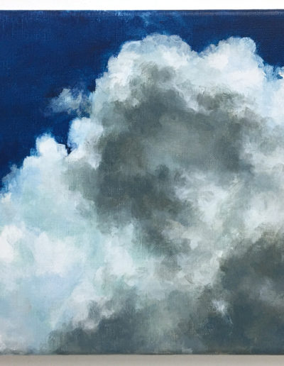 Cloud Study, 2020, acrylic on linen, 9 x 12 inches, Private Collection.