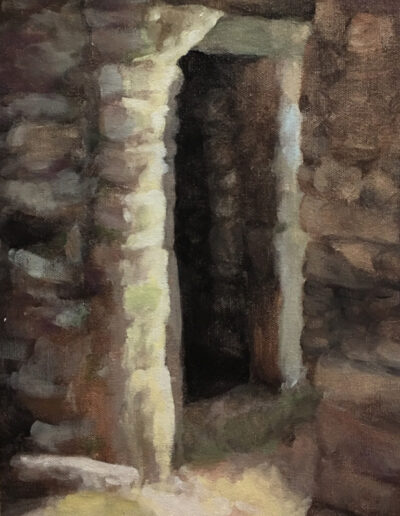 Doorway, 2019, acrylic on canvas, 16 x 12 inches