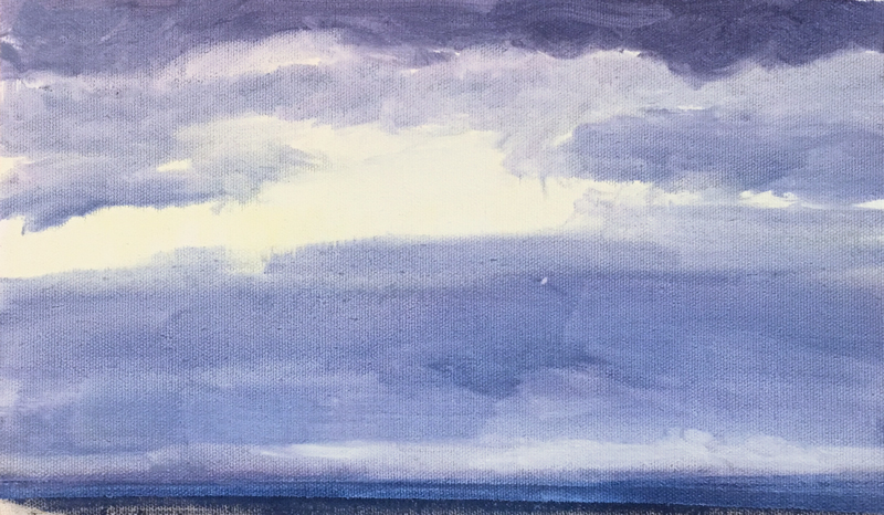 Dusk Study 2, 2019, acrylic on canvas, 6 x 9 inches
