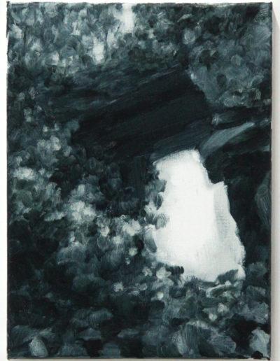 Irish Ivy, 2019, acrylic on linen, 12x16 inches