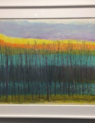 Wolf Kahn, Bands and Layers, 2012, Pastel on paper, Somerville Manning Gallery, Greenville, DE