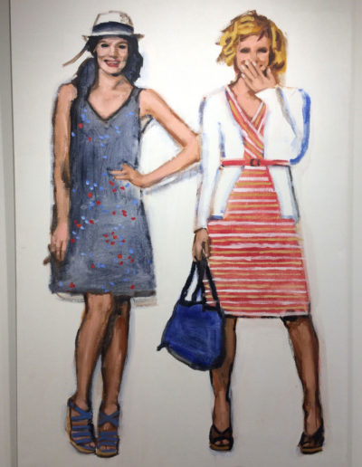 Walter Robinson, Target Dresses Cardis and Wedge Sandals, 2013, Acrylic on linen, Galerie Sebastien Bertrand, Geneva, CH