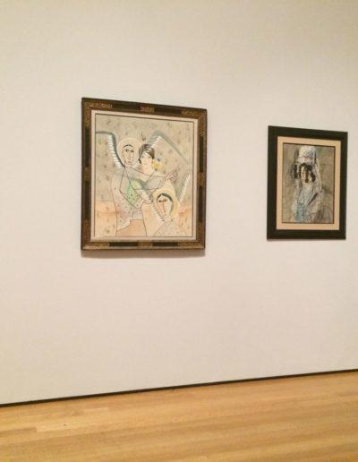 Artist L. Mylott Manning viewing the Picabia Exhibit