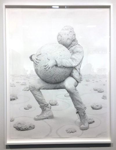 Jean-Pierre Roy, Gigantomachy, 2017, graphite on paper, Gallery Poulsen, Copenhagen, DK