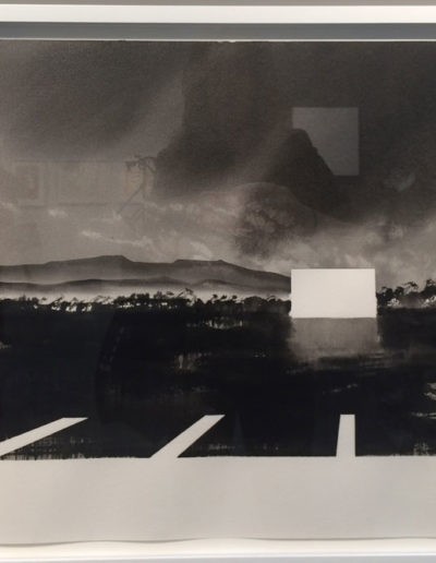 Alfred Leslie, Drive-In Movie, Santa Barbara, California, 1978/81, Watercolor, Hill Gallery, Birmingham, MI