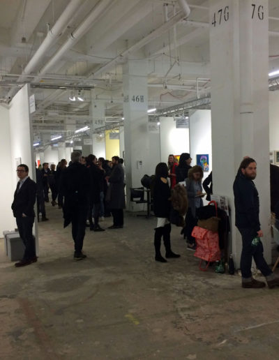 The booths at NADA on Thursday afternoon