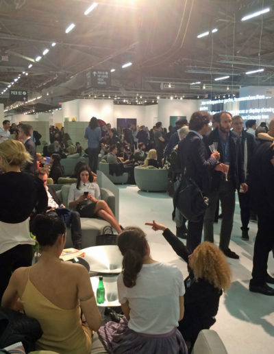 Opening day at the Pommery Champagne Bar in The Armory Show
