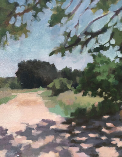 Sunlit Path, 2020, Acrylic on canvas, 16x20 inches