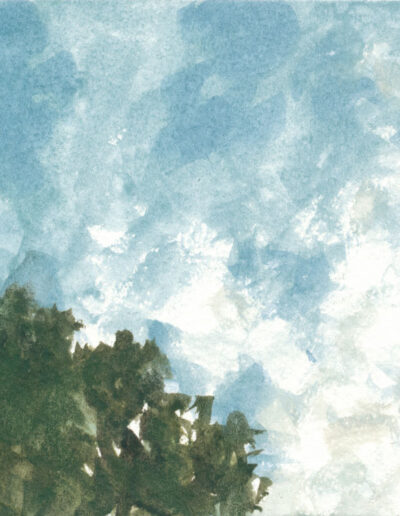 Sky, watercolor on paper, 4 x 6 inches