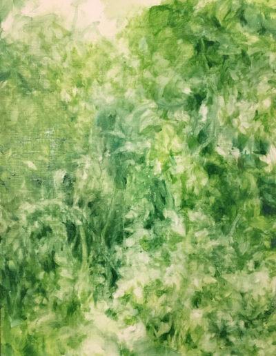 Flourish, 2020, Acrylic on panel, 16 x 12 inches