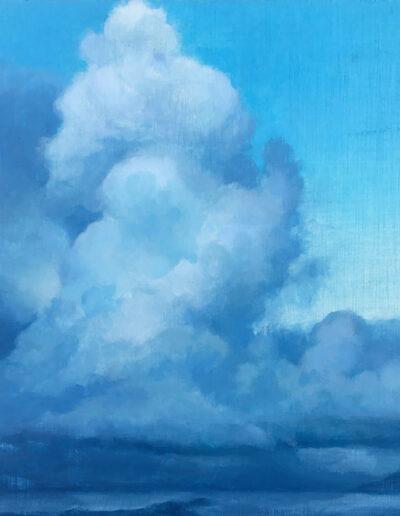 Coastal Storm, 2020, Acrylic on panel, 12 x 16 inches