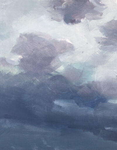 Storm Front, 2020, Acrylic on panel, 16 x 24 inches
